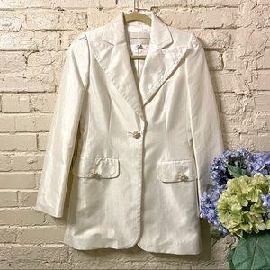 Banana Republic Pearl White Blazer, Sz XS